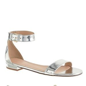 J Crew Maya mirror metallic sandals